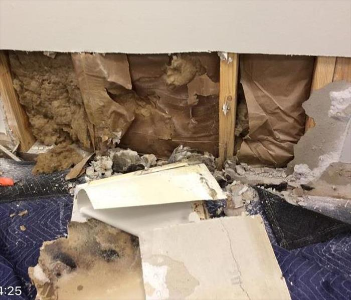 Water Intrusion at a Career Center Before